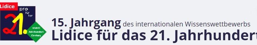 """15. Jahrgangs des Wissenswettbewerbs  """"Lidice für das 21. Jahrhundert"""" 2020"""