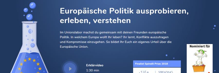 Hinweis: EU-Bildungsmaterial – Kurzfilm & Online-Planspiel